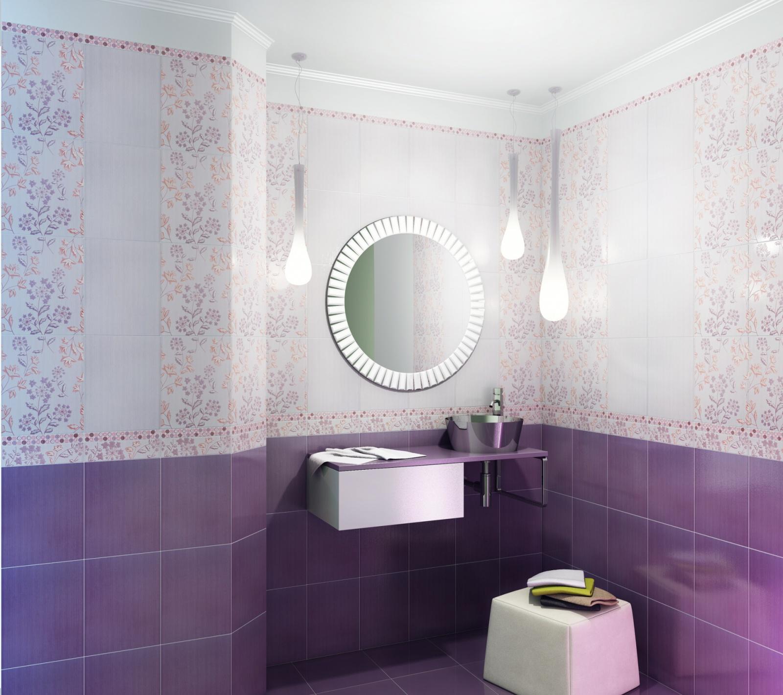Фото дизайна шахтинской плитки в ванной комнате