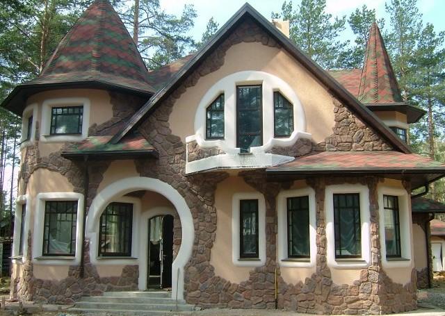 Отделка фасада дома в воронеже